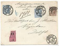 Nederland 1891 PWS Prinses Wilhelmina gebruikt als Waarde brief !