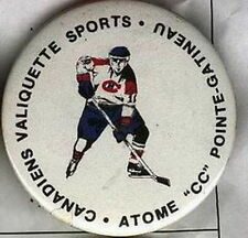 ATOME CC GATINEAU VALIQUETTE HOCKEY QUEBEC TOURNAMENT OFFICIAL OLD PIN BUTTON