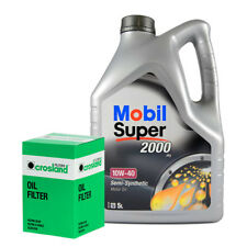 Mobil Super 2000 X1 10W40 Engine Oil 5L and Oil Filter Service Kit