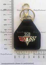 Chevrolet Chev 350 Flag Leather Keyring Key Chain Fob