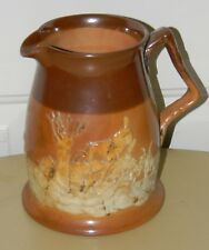 VTG ANTIQUE ROYAL DOULTON ENGLAND STONEWARE POTTERY PITCHER HUNTING SCENE RELIEF