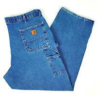 NEW Carhartt Navy Blue Carpenter Work Pants Soft Canvas Denim Men Size 40X28