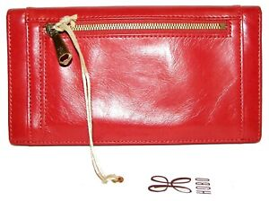 HOBO Cape Brick Leather Bifold Clutch Wallet NWT