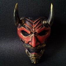 ONI MASK ASSASSIN JAPANESE DEMON SAMURAI KABUKI ONIMARU MEMPO RONIN NINJA RED