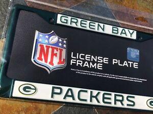 1 Green Bay Packers Dark Green Metal Vehicle License Plate Frame