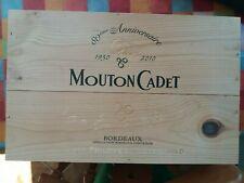 Mouton Cadet 80th anniversary Wooden Wine Box
