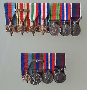 British Miniature Medal Groups x 2 No2.