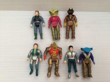 """7 Vintage Tyco Action Toys Dino Riders 3"""" Figures Sky Rasp Sting Krulos Mako Etc"""