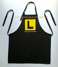 Funny Novelty Kitchen Cooking BBQ Chef Learner Adult Black Cotton Apron Gifts