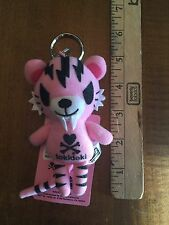 RARE Tokidoki Tiger Plush Doll Keychain - PINK