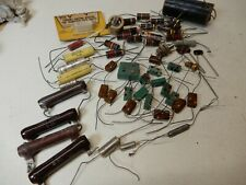 Vintage Electronics Lot Mica Capacitors, Carbon Resistors Capacitors