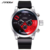 Herrenuhr Sport Chronograph Edelstahl Armbanduhren Schwarz Armband Uhr Geschenk