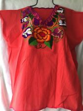 Mexican Blouses Embroidered From Chiapas Handmade Large