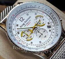 Orologio Cronografo Krug Baumen Air Traveller Diamond  Cal. Citizen JS25 - NUOVO