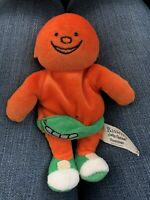 Rare Retro Vintage Bassett Jelly Babies Orange Collectible Plush Soft Toy 6 Inch