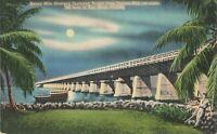 Postcard Seven Mile Oversea Highway Bridge Florida Keys