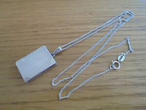 925 solid silver locket and chain