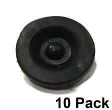 (10) BLACK RUBBER GREASE PLUG Hub Dust Caps for Tiedown Eng Trailer Camper Axle