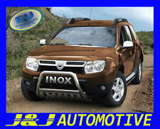 PARE BUFFLE DACIA DUSTER HOMOLOGUE INOX Ø 60mm avec Plaque de protection