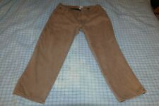 L.L. Bean Men's Fleece-Lined Khaki Jeans, Size 42 Waist 29 Inseam, Relaxed Fit