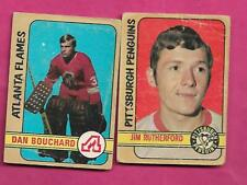 1972-73 OPC PENGUINS RUTHERFORD RC + BOUCHARD RC  GOALIE CARD (INV# C1324)
