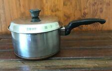 essteele brand stainless steel and copper saucepan & lid silcraft 17cm diameter