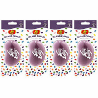 15255 Jelly Belly ISLAND PUNCH 3D Bean Air Freshener Car (x4) Hanging Gel Type