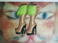Bratz Bratzillas doll boots. Brown with green faux fur Doll Boots replacements