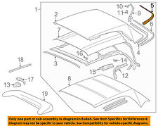 VW VOLKSWAGEN OEM Cabrio Convertible/soft Top-Top Cover Gasket 1E0871415CB41