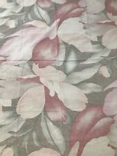 Wamsutta Sheet Pink Floral Percale Vintage Twin Bed Flat
