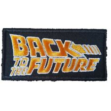 Back To The Future Text Logo Iron On Patch Sew on Transfer Movie Patch