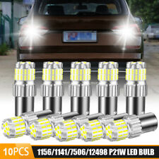 10X 1156 7506 BA15S LED Reverse Back Up Turn Signal Tail Brake Light Bulbs White