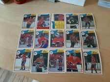 1983-84 OPC HOCKEY MONTREAL CANADIENS CARD LOT (15) LAFLEUR SHUTT ROBINSON