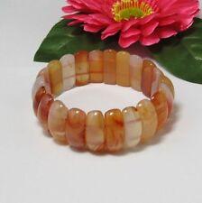 schön elastisch Armband aus Achat Crescent Form Perlen