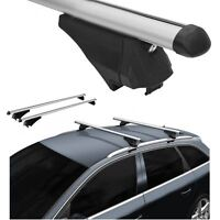 Roof Rack Cross Bars Aerodynamic Aluminum Locking fits Audi A3 Sportback 04-16