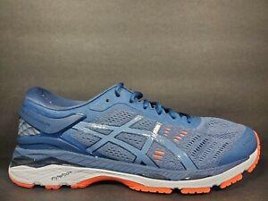 Asics Gel Kayano 24 Mens Size 9.5 Running Shoes Smoke Blue Dark Blue T749N