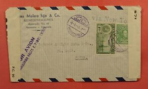 DR WHO 1940 VENEZUELA MARACAIBO AIRMAIL TO SWITZERLAND WWII CENSOR C234798