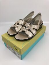 Life Stride Womens Sandals Shoes Size 7.5 N Slingback Wedge Lido Sandy Leather