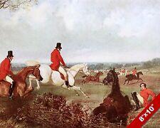 TALLY HO FOX HUNT HORSE FOXHUNTING HUNTING ART PAINTING REAL CANVAS PRINT