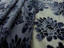 PEONY DEVORE NAVY BLUE TEX EX 1343 DRESSMAKING CRAFT FANCY DRESS FABRIC