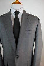 Gieves & Hawkes Gray Glen Plaid Suit Mens Size 42R 100% Wool