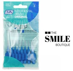 TePe Interdental Brush, Blue, Size 3 / 0.6mm - Pack of 8