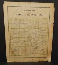 Iowa Madison County Map  1912  Y12#05