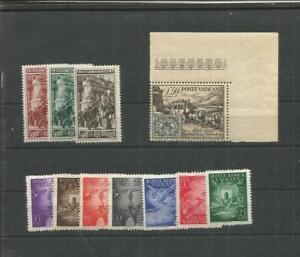 Vaticano  P.A. 1947 +  guardia paladina e 100 franc. nuovi MNH** perfetti