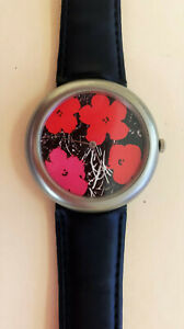 Rare ANDY WARHOL FLOWERS Lithograph - Zitura Wrist Watch - Limited Edition