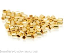 10x 2mm x 1mm 14ct GOLD FILLED CRIMP TUBES BEADING & PEARL CRIMPING