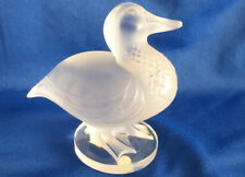 LALIQUE | GAETAN DUCK *BRAND NEW* Cute Frosted Glass Canard RARE Paris $520 USA