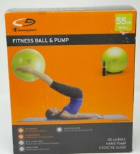 """Champion Fitness Ball and Pump, 22"""" (55 cm) Small"""