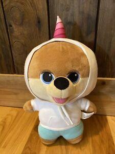 "Jiffpom Cutelife Unicorn Hoodie Big Head Teddy Bear 13"" Soft Plush Stuffed"