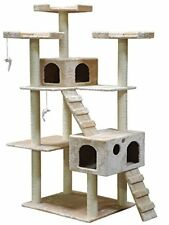 Pet Club Cat Tower Tree Condo Climber Post Scratch Furniture Beige Kitty House